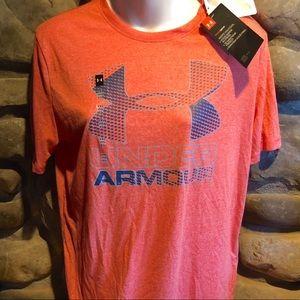 Under Armour NWT Youth Coral HeatHeat Gear Shirt